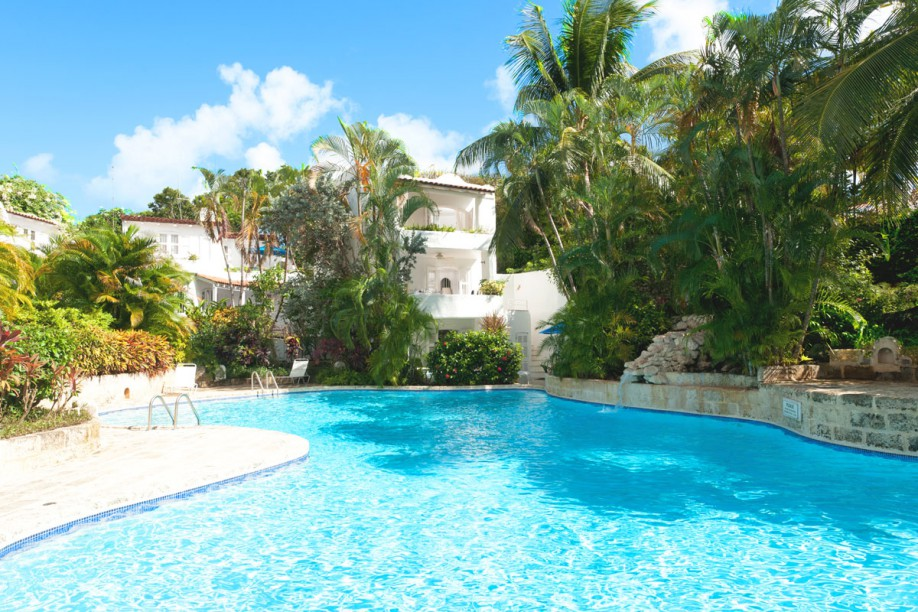Swimming pool in paradise