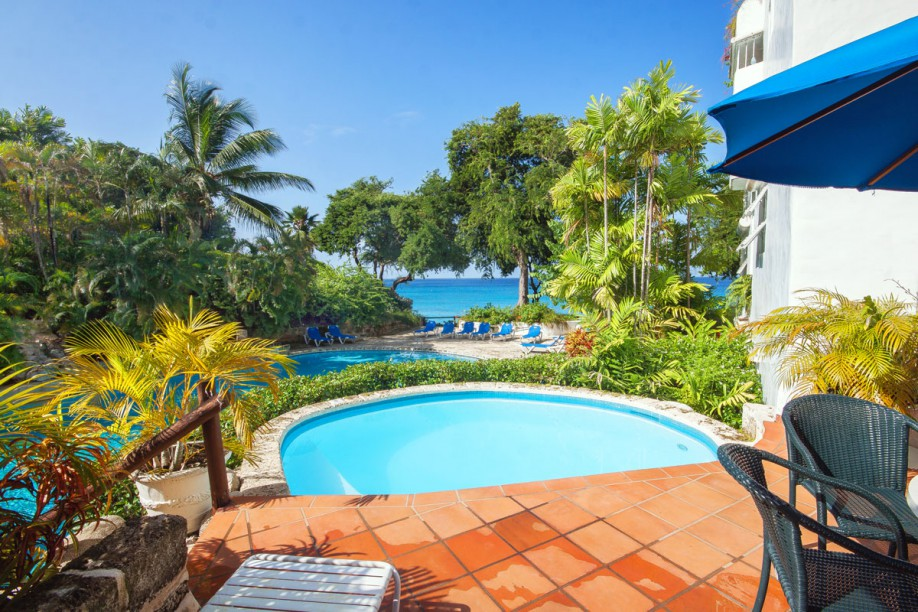 Barbados poolside relaxation